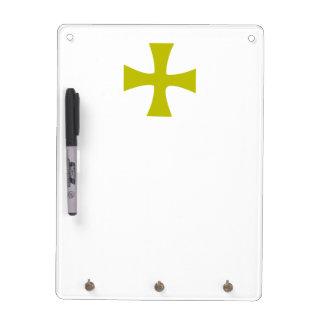 金ゴールドによって着色されるビザンチンの十字 ホワイトボード