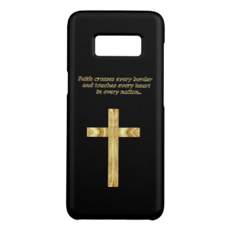 金ゴールドのおもしろいなことわざを用いるキリスト教の信頼の十字 Case-Mate SAMSUNG GALAXY S8ケース