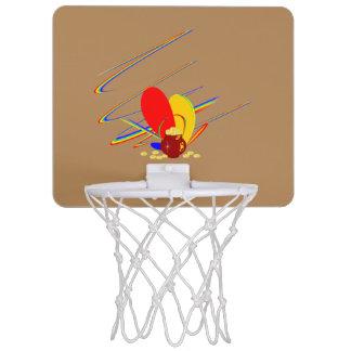 金ゴールドのお金angの魔法の虹 ミニバスケットボールネット