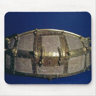 金ゴールドのためのバイキングの貴重品箱 マウスパッド