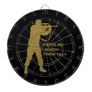 金ゴールドのはんだの狙撃兵 ダーツボード