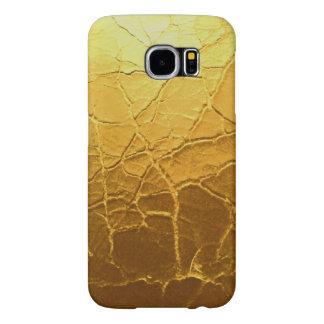 金ゴールドのひびの銀河系s6の電話箱 samsung galaxy s6 ケース