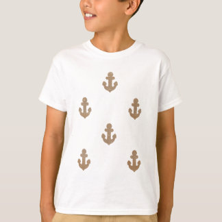 金ゴールドのぴかぴか光るいかり Tシャツ