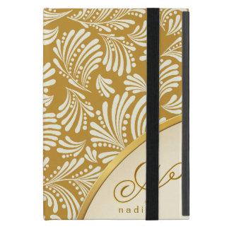 金ゴールドのアイボリーのモノグラムのフォリオiPad Mini iPad Mini ケース