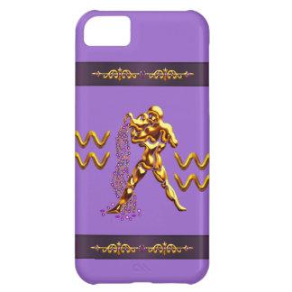 金ゴールドのアクエリアス水キャリアの紫色のiPhone 5 iPhone5Cケース