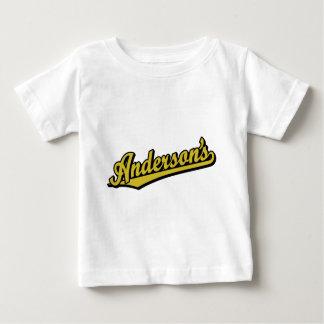 金ゴールドのアンダーソン ベビーTシャツ