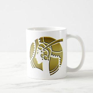 金ゴールドのアールデコの女性 コーヒーマグカップ
