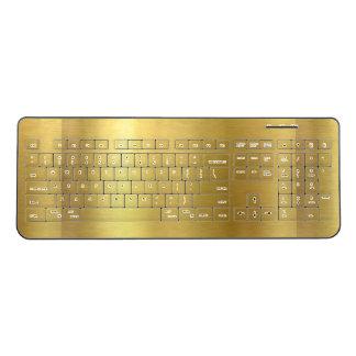 金ゴールドのイメージのデザイン ワイヤレスキーボード