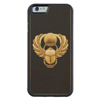 金ゴールドのエジプト人のオオタマオシコガネ CarvedメープルiPhone 6バンパーケース