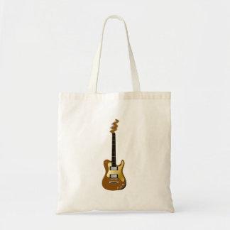 金ゴールドのエレキギターの失敗のヘッドストック トートバッグ