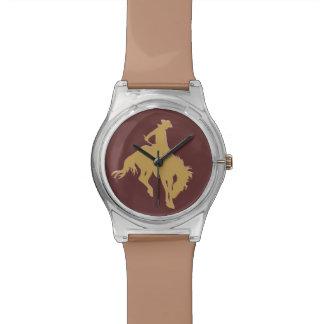 金ゴールドのカウボーイの強く反対する馬 腕時計