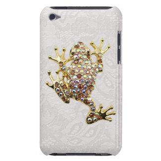 金ゴールドのカエルの宝石の写真のペイズリーのレースのipod touchの場合 iPod Case-Mate ケース