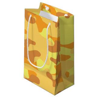 金ゴールドのカムフラージュ スモールペーパーバッグ