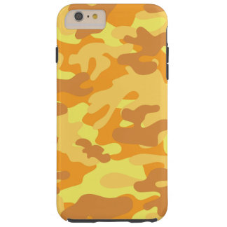 金ゴールドのカムフラージュ TOUGH iPhone 6 PLUS ケース