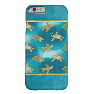 金ゴールドのカメの涼しいiPhone6ケース Barely There iPhone 6 ケース