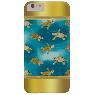 金ゴールドのカメのiPhone 6のプラスの場合 iPhone 6 Plus ベアリーゼアケース