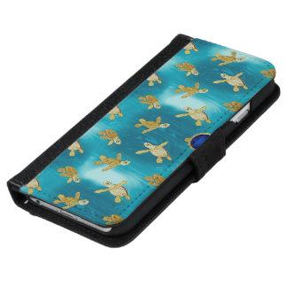 金ゴールドのカメのiPhone 6の財布のスタイルの場合 iPhone 6/6s ウォレットケース