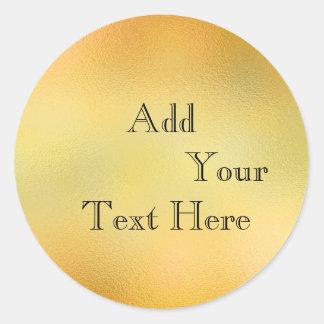 金ゴールドのガラスホイルの模造のなグリッターはクラシックをカスタマイズ ラウンドシール