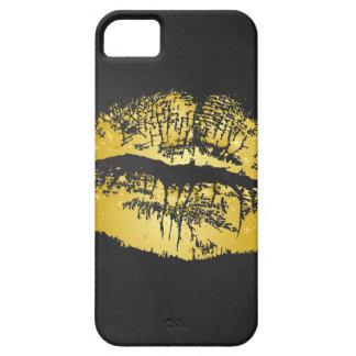 金ゴールドのキスの私電話箱 iPhone SE/5/5s ケース