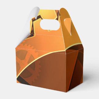金ゴールドのギアの背景 フェイバーボックス