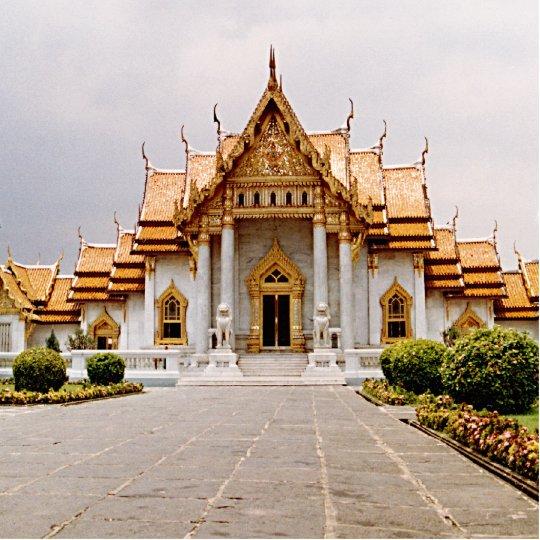 金ゴールドのクメール王国のライオンPhotosculptureの大理石の寺院 写真彫刻(台付き)