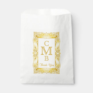 金ゴールドのクラシックなモノグラム華美なフレームの白の大理石 フェイバーバッグ