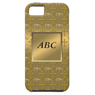 金ゴールドのクリスチャン愛 iPhone SE/5/5s ケース