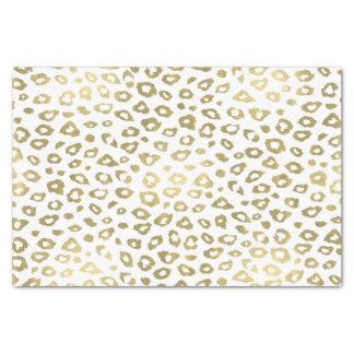 金ゴールドのグラデーションなヒョウのプリント 薄葉紙