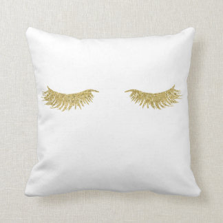 金ゴールドのグリッターのまつげの化粧の装飾用クッション クッション