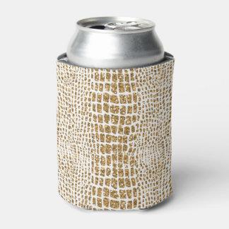 金ゴールドのグリッターのわにプリント 缶クーラー