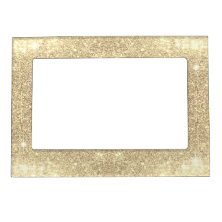 金ゴールドのグリッターのクラシックな魅力の輝きののど マグネットフレーム