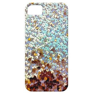 金ゴールドのグリッターのグラデーションなスパンコール iPhone SE/5/5s ケース