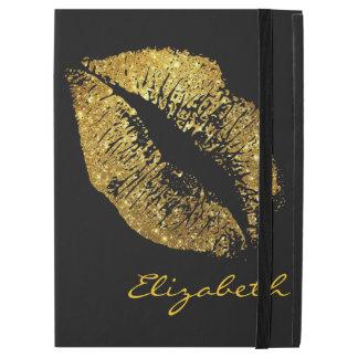 """金ゴールドのグリッターの唇 iPad PRO 12.9"""" ケース"""