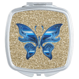 金ゴールドのグリッターの抽象的な蝶