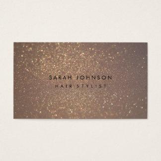 金ゴールドのグリッターの《写真》ぼけ味の美容師の名刺 名刺