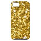 金ゴールドのグリッターのiPhone SE/5/5Sの堅い場合 iPhone SE/5/5s ケース