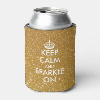 金ゴールドのグリッターは平静を保ち、輝きはクーラーできます 缶クーラー