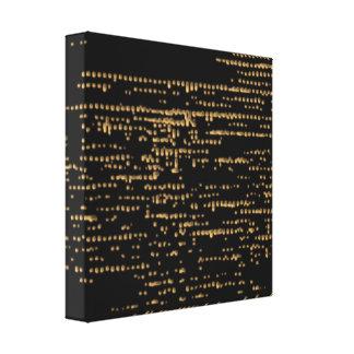 金ゴールドのグリッター-きらめくな夜空2 キャンバスプリント