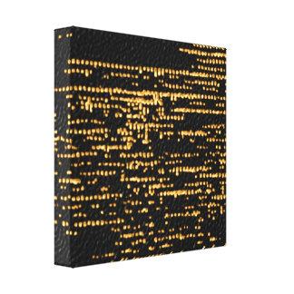金ゴールドのグリッター-きらめくな夜空 キャンバスプリント