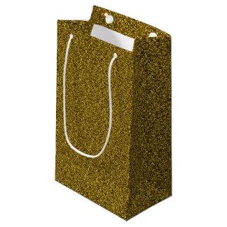 金ゴールドのグリッター スモールペーパーバッグ