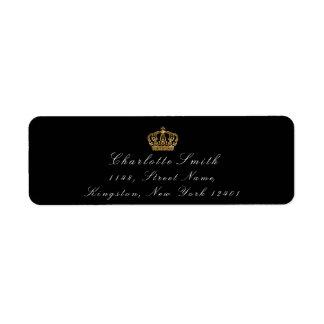 金ゴールドのグリッターRSVPの皇太子妃のブライダルの黒 ラベル