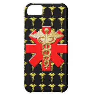 金ゴールドのケリュケイオンおよび医学の十字 iPhone5Cケース