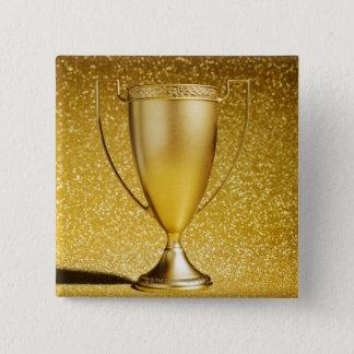 金ゴールドのコップのトロフィ 5.1CM 正方形バッジ