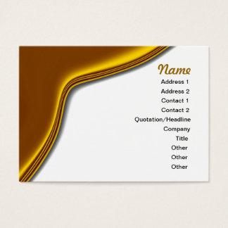 金ゴールドのサテンのカーブの優雅の名刺 名刺