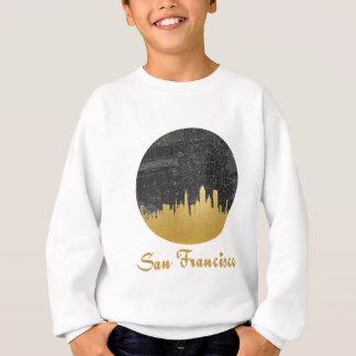 金ゴールドのサンフランシスコ都市スカイラインの地図 スウェットシャツ