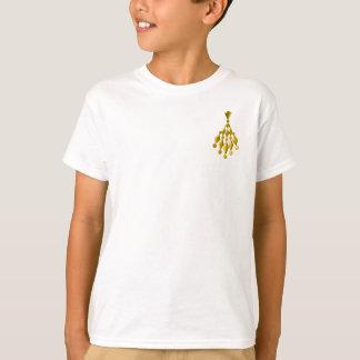 金ゴールドのシャンデリア Tシャツ