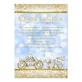 金ゴールドのシンデレラの青いプリンセスキンセアニェラ カード