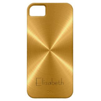 金ゴールドのステンレス鋼の金属 iPhone SE/5/5s ケース