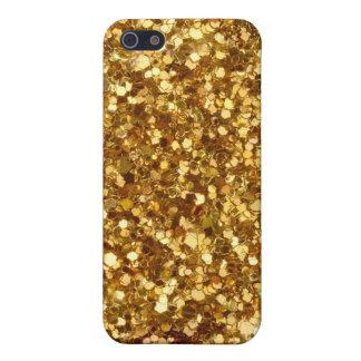 金ゴールドのスパンコールのiPhoneの場合 iPhone SE/5/5sケース