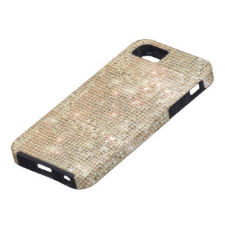 金ゴールドのスパンコールのiPhone 5の堅い場合 iPhone SE/5/5s ケース